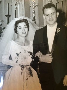 Nita and Enzo Tribo on their wedding day in 1961.